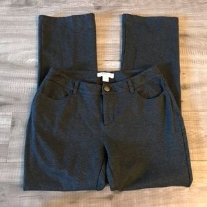 Coldwater Creek Gray Natural Fit Petite Pants firm
